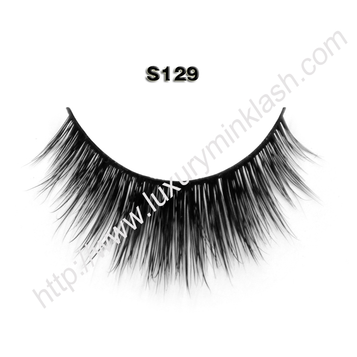 100 real mink lashes S129