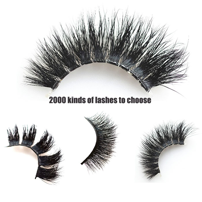 Factory Price Wholesale Mink Fur 3D Eyelashes