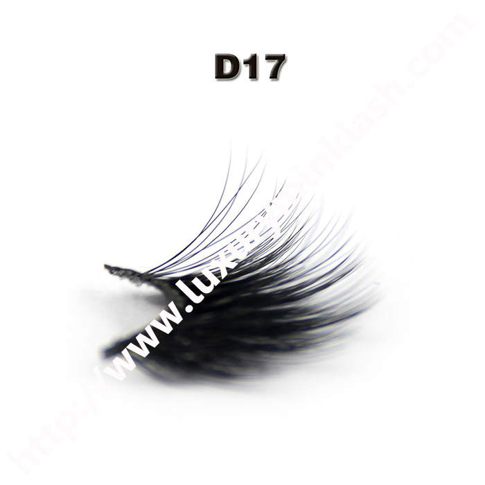 Private Label Natural Looking 3D Silk Fur Lashes