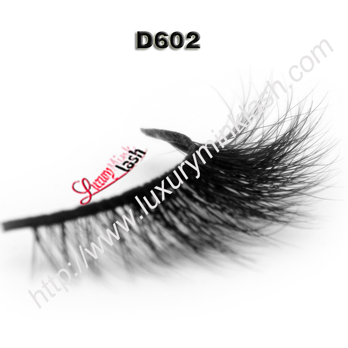 Super 3D effect mink eyelashes private label D602