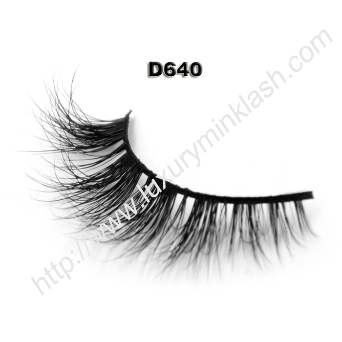 Private Label 3D Mink Lashes D640