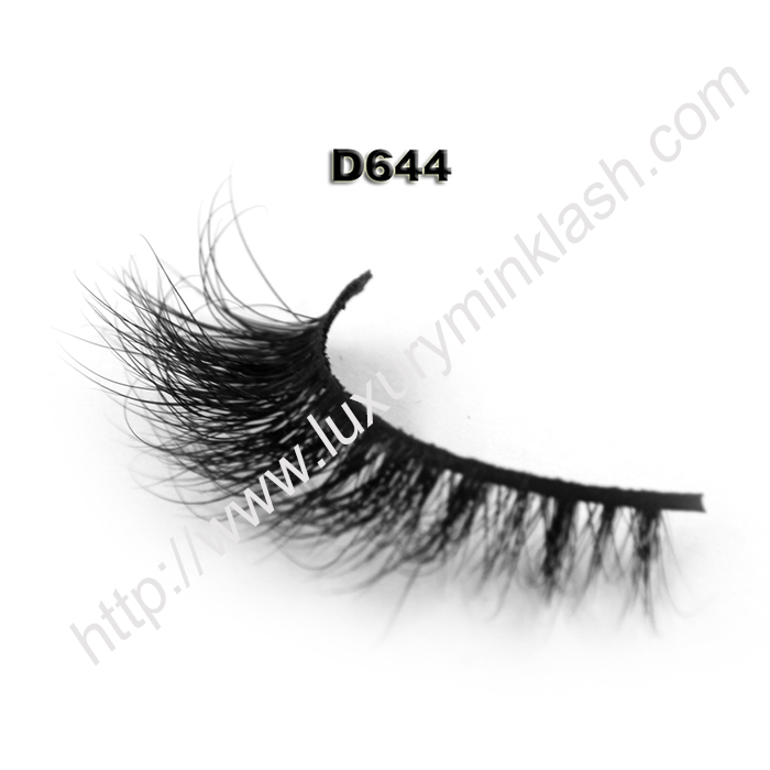 3D Mink Eyelashes Supplier D644