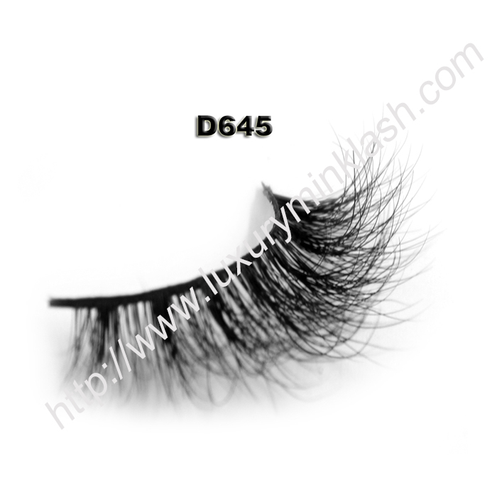 Best Seller 3D Mink Lashes Supplier D645