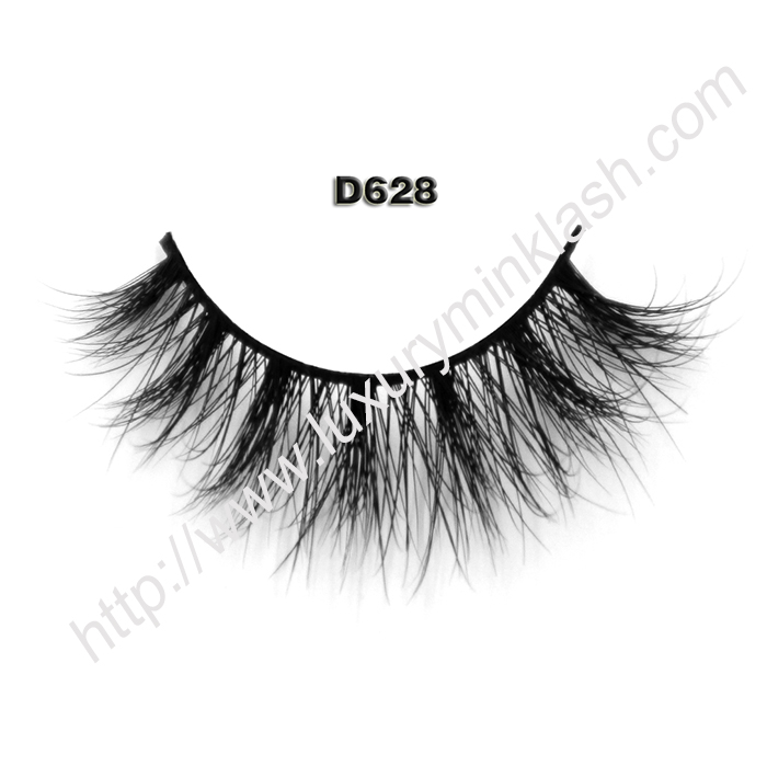 3D Mink Fur Fake Eyelashes D628