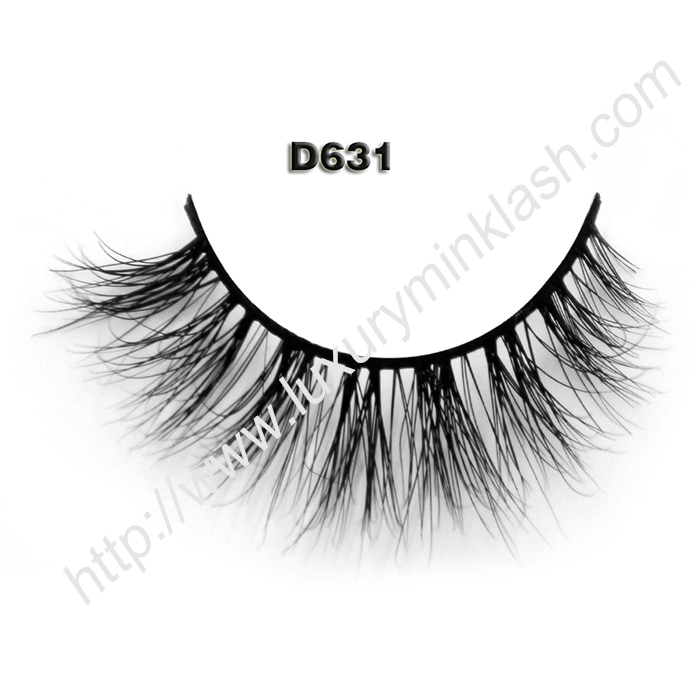 Private Label Mink Lashes Hot Selling 3D Eyelashes D631