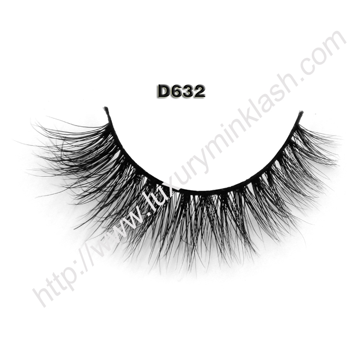 3D Mink Fur False Eyelashes D632