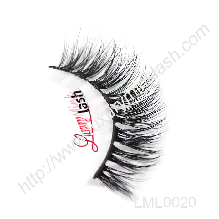 Clear band luxury 3D mink fur strip eyelashes