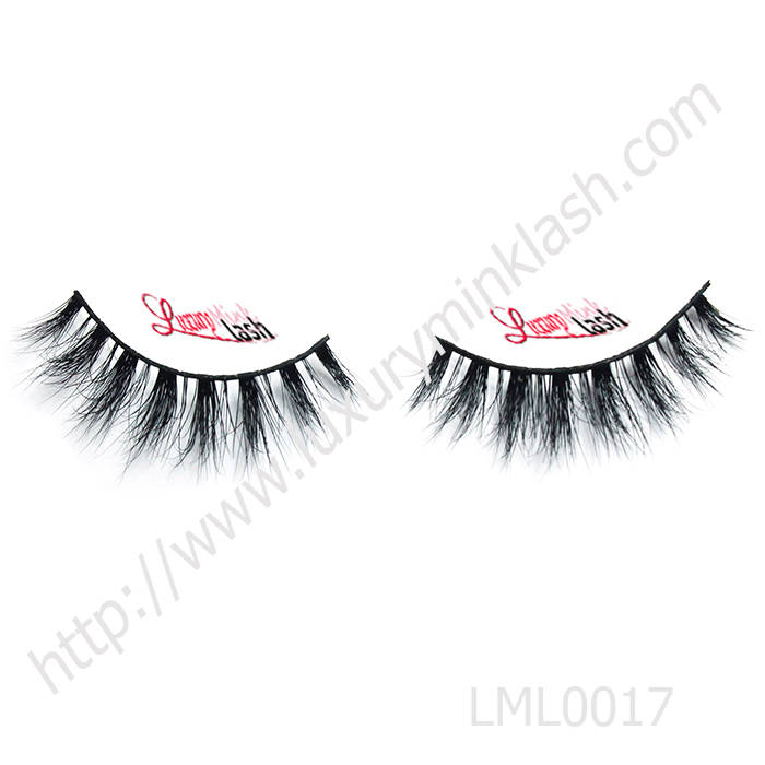 Clear band mink fur lashes