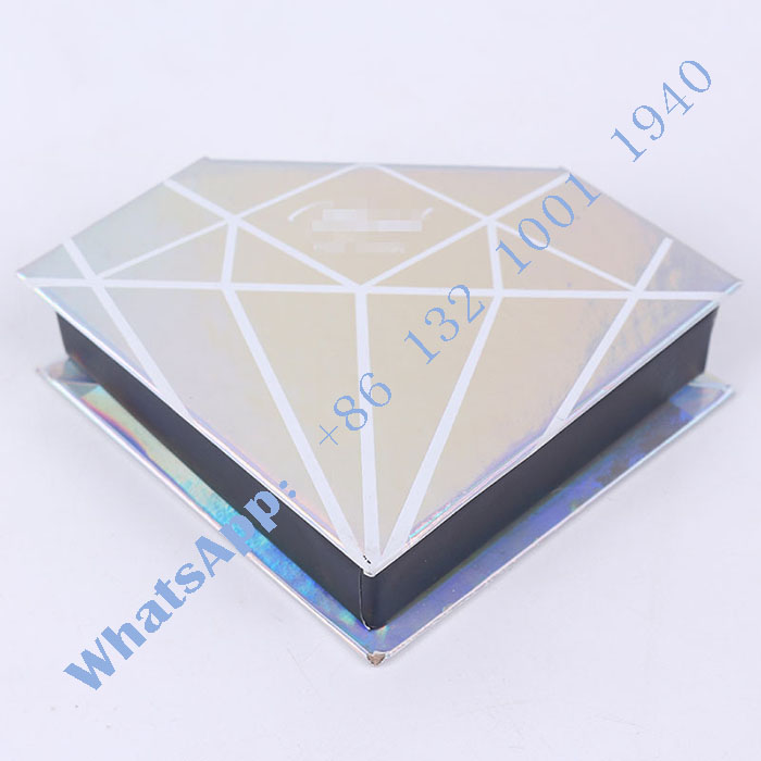 7aae238ceb6 China Diamond Shape Custom Eyelash Packaging Box for Real Mink 3D Mink  Lashes.