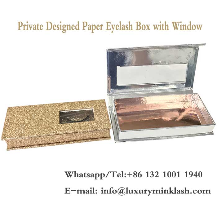 Private Designed Paper Eyelash Box with Window