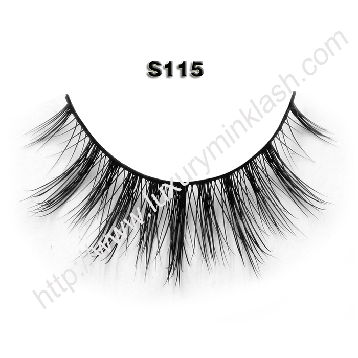 Faux Mink Eyelash Supplier S115