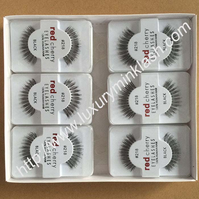 Wholesale Red Cherry Eyelashes Human Hair