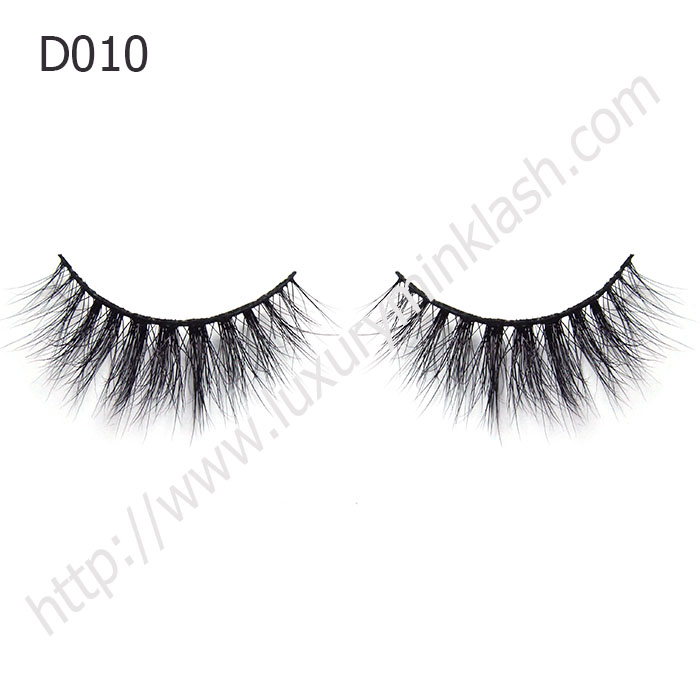 Luxurious Mink Fur Strip Lashes 3D Mink Lashes D010