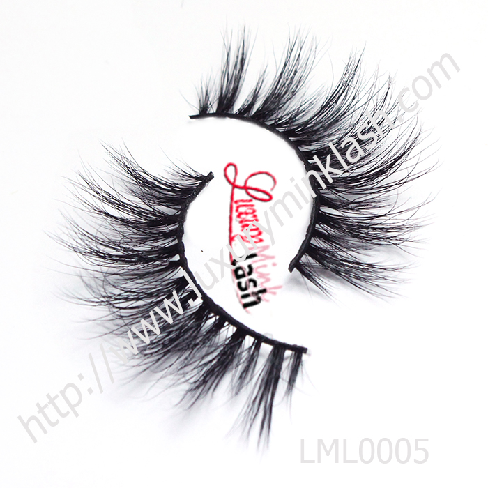 Luxury mink fur strip eyelashes