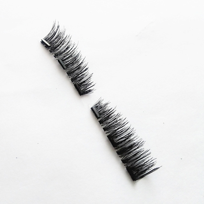 Factory price wholesale two pair of packaged magnet eyelashes
