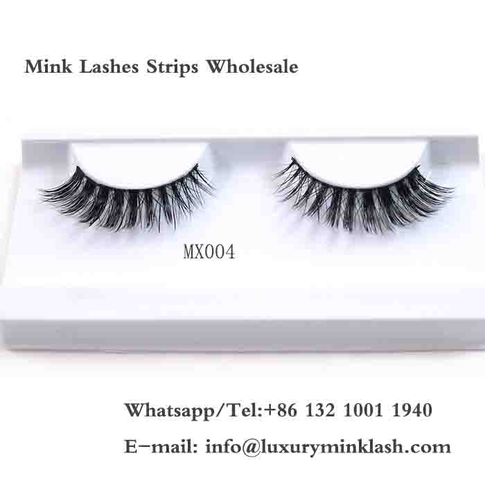 Mink fur strip lashes Wholesale