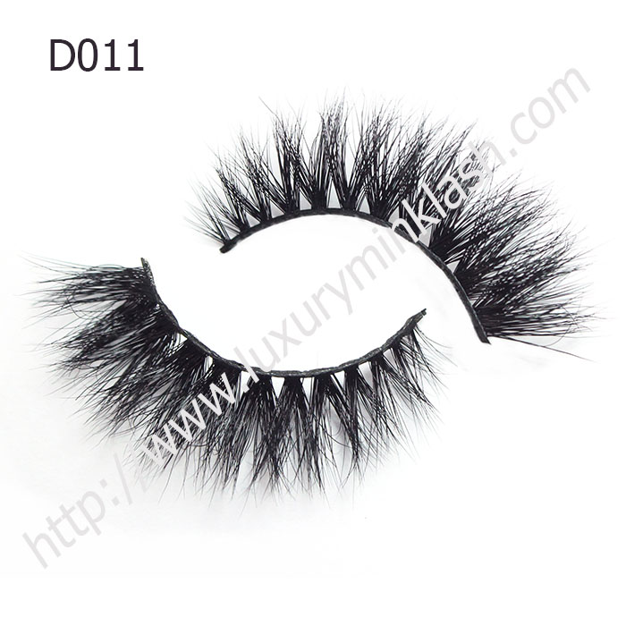 Natural looking 3D mink strip lashes D011
