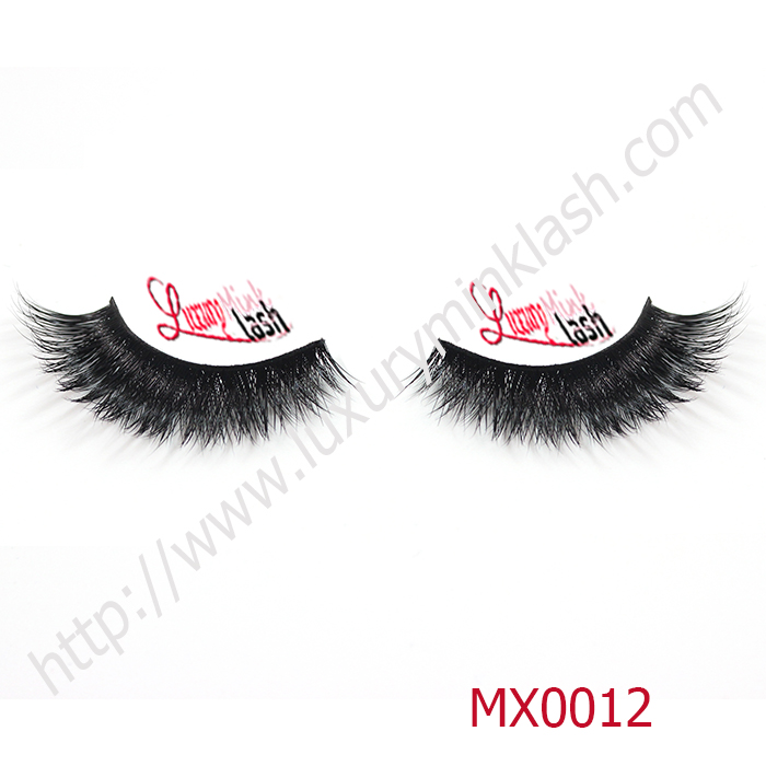 OEM mink eyelashes with custom boxes