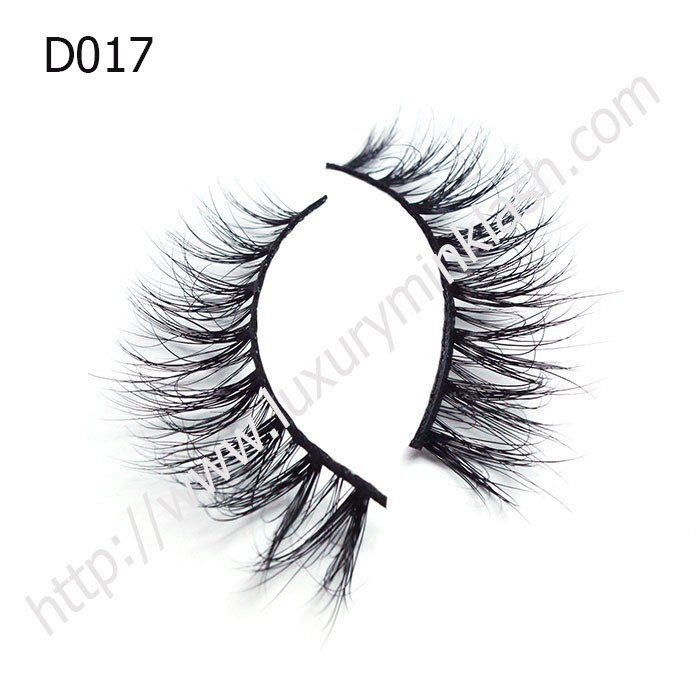 Private Label 3d mink strip lashes D017