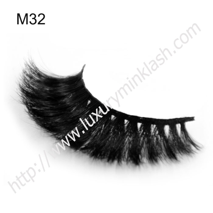 thick crisscrossing horse fur false eyelashes