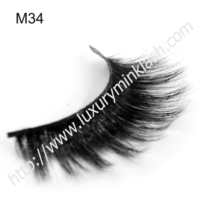 thick fluffy double layered horse hair lashes