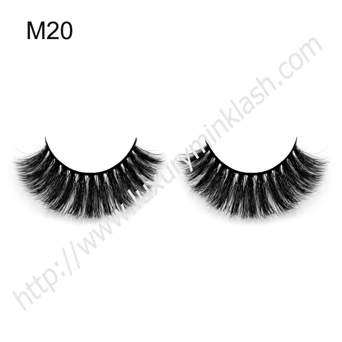 horse hair eyelashes with private logo