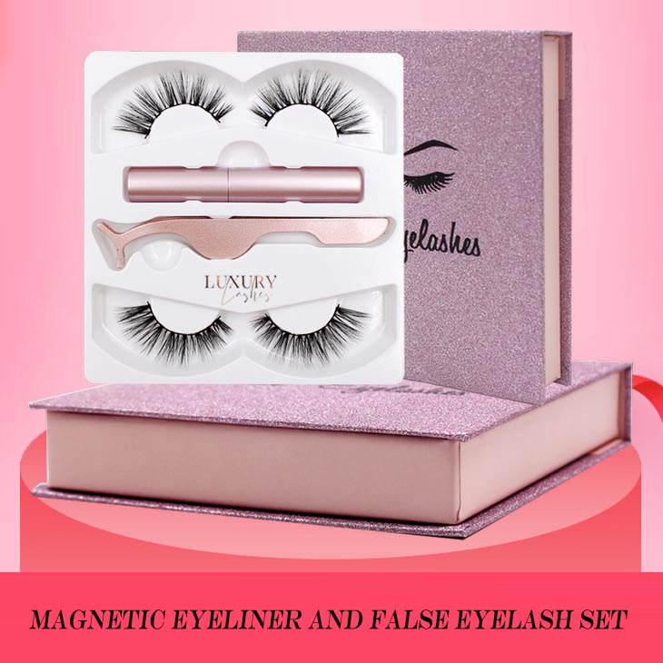 Factory wholesale magnetic eyeliner and false eyelash set