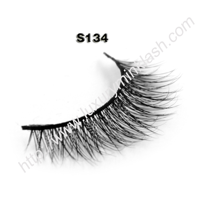 real mink lashes individual S134
