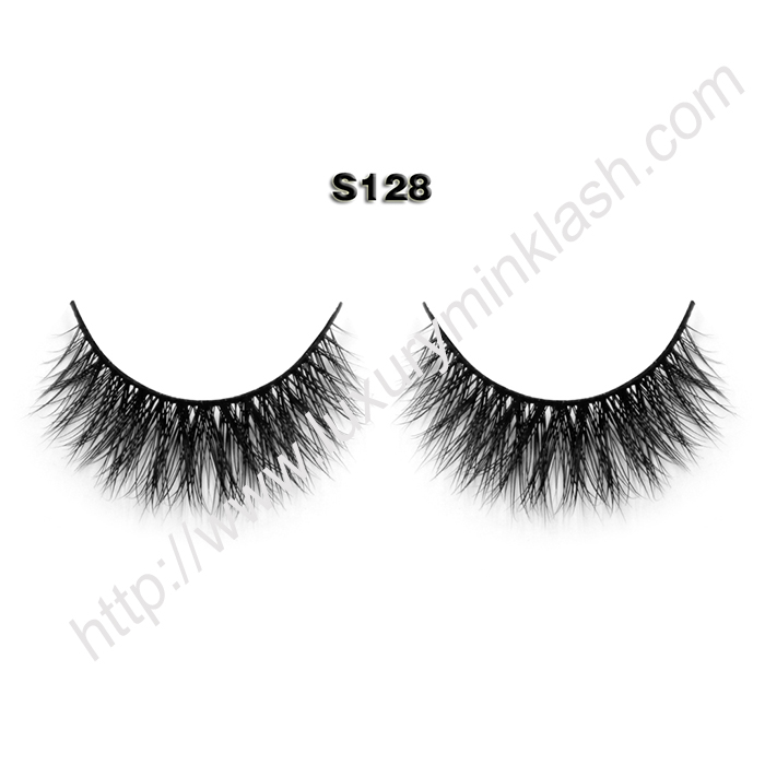 synthetic vs real mink lashes S128